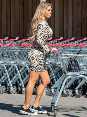 Bianca Gascoigne in Tight Outfit at Sainsburys in Kent
