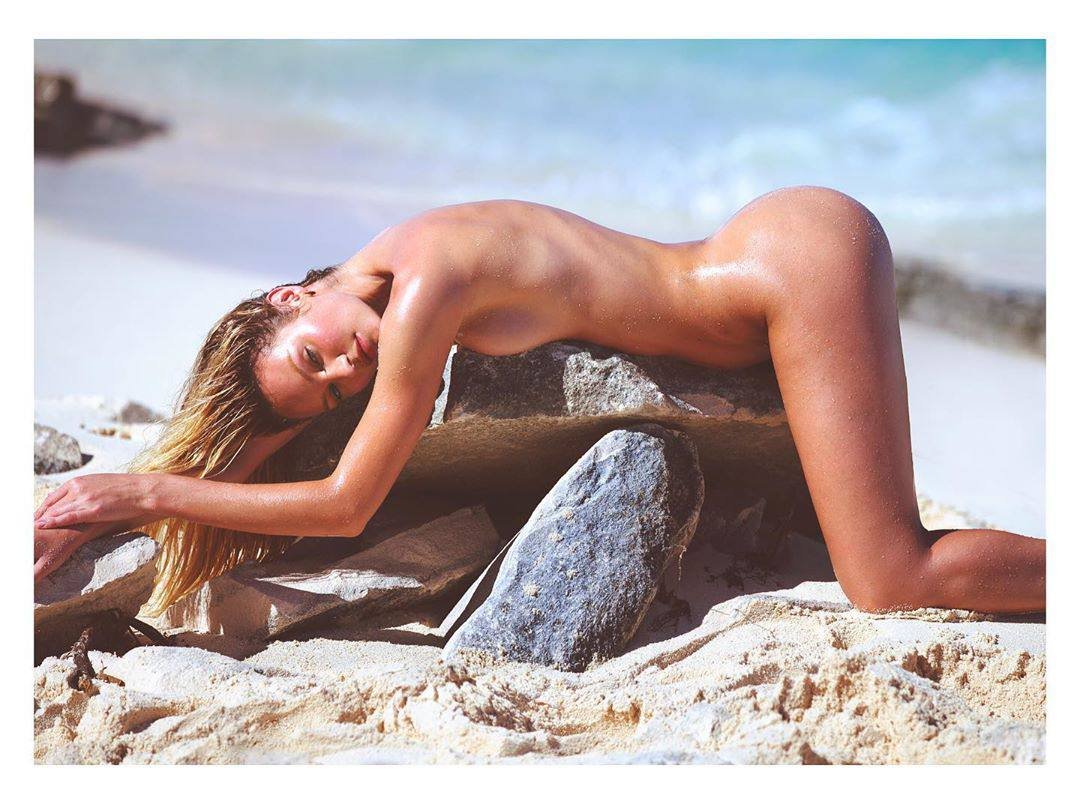 Candice Swanepoel Butt, Photoshoot by David Bellemere 2020