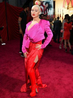 "Christina Aguilera at the Premiere of Disney's ""Mulan"" in Hollywood"