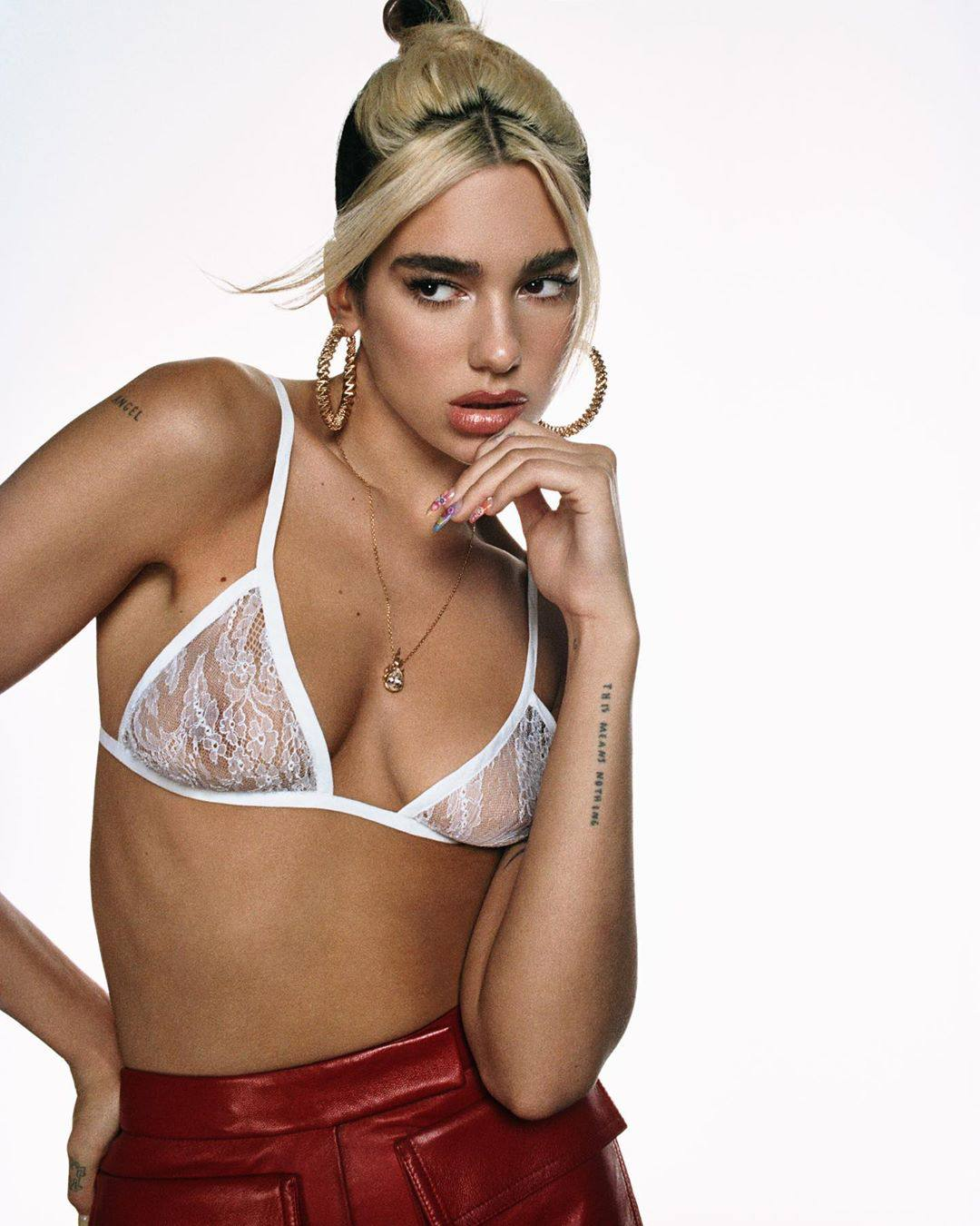 "Dua Lipa in See-Through Bra for ""Break My Heart"" Photoshoot"