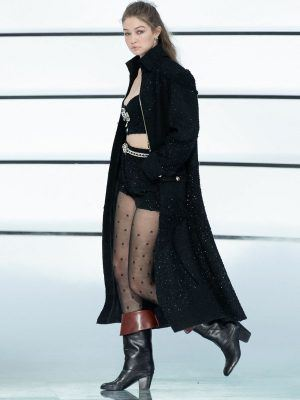 Gigi Hadid on the Runway for Chanel Ready to Wear Fashion Show in Paris