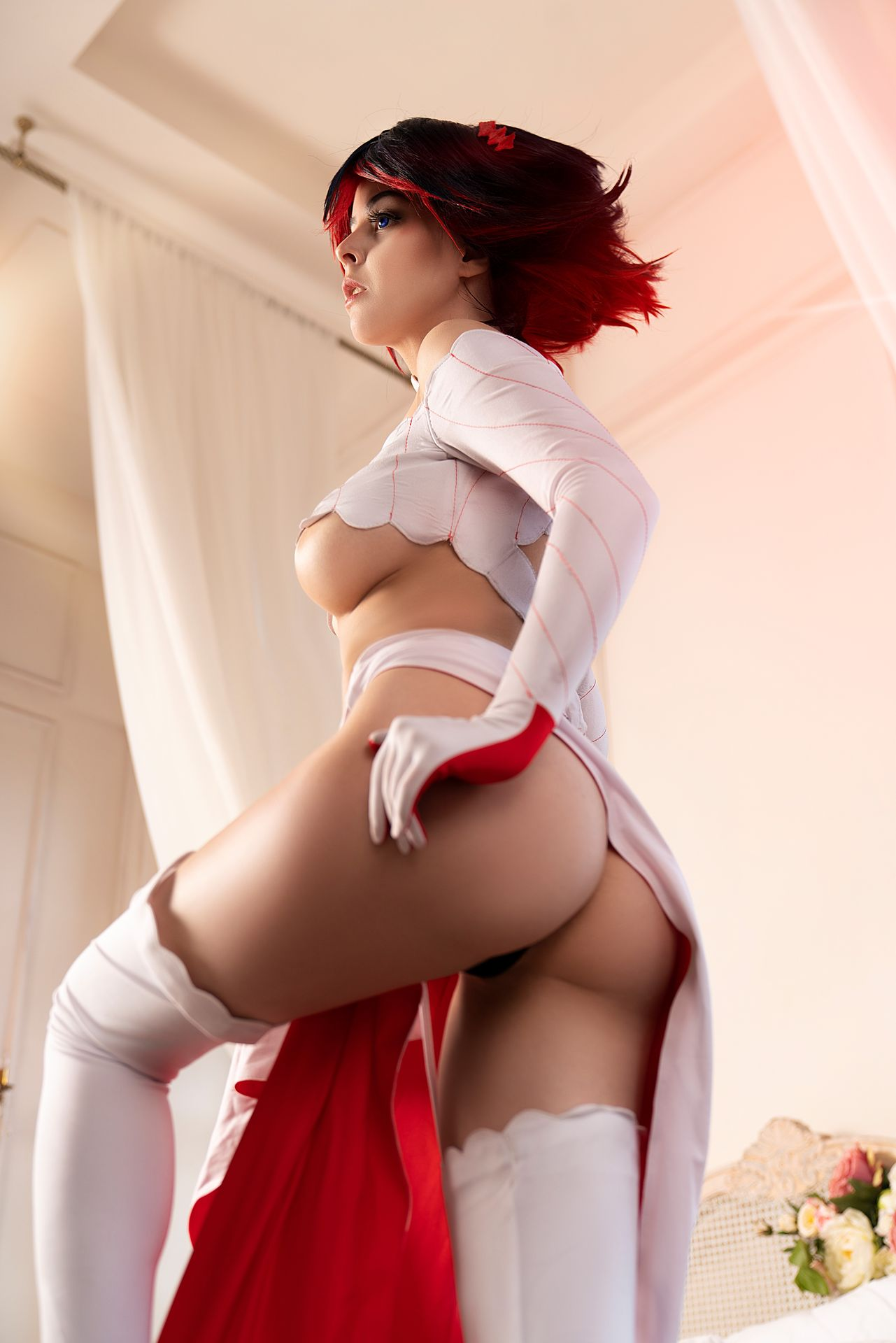 Helly Valentine Model and Cosplayer as Ryuko Matoi Bride