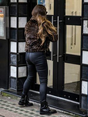 Kelly Brook Booty, at Global Radio Studios in London