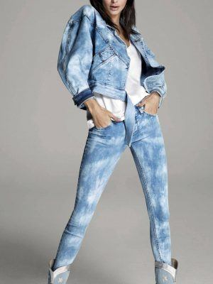 Kendall Jenner in Denim Jeans Photoshoot for Liu Jo #Bornin1995 Campaign