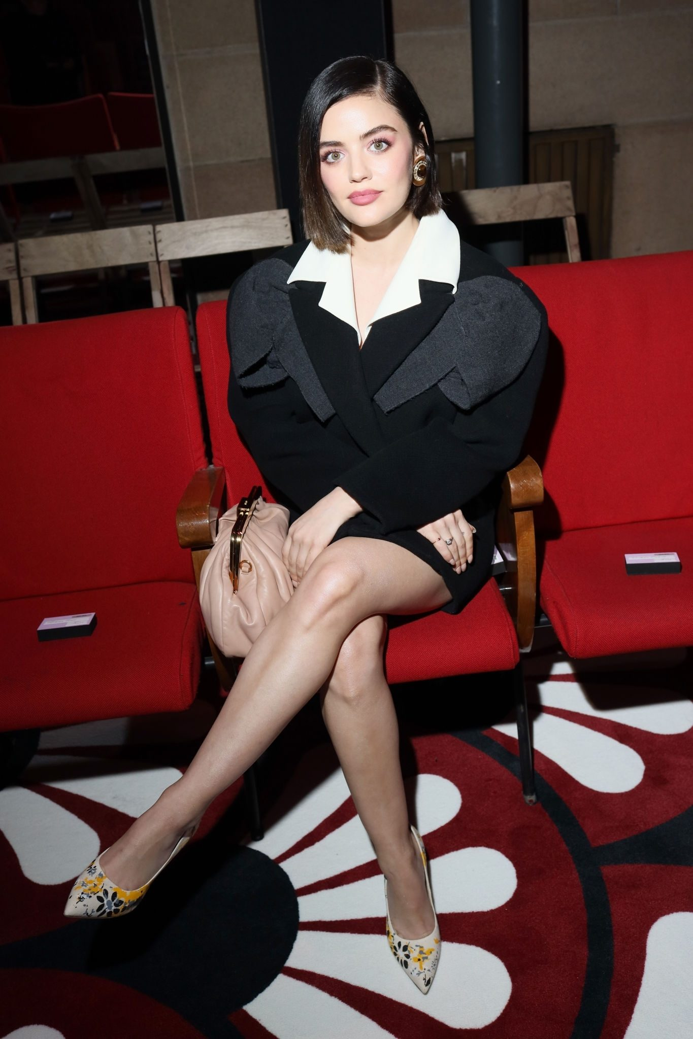 Lucy Hale at Miu Miu Fashion Show in Paris