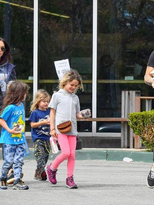 Megan Fox Outside a Grocery Store with Family in LA