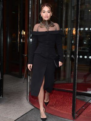 Rita Ora Leaving Le Royal Monceau in Paris