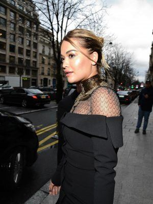 *EXCLUSIVE* Rita Ora mesmerizes in Paris during Fashion Week