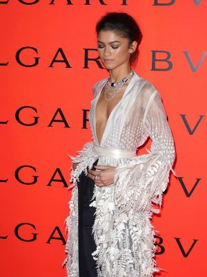 Zendaya on the Red Carpet of the Bvlgari B.zero1 Rock Party Held at Duggal Greenhouse Brooklyn