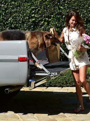 Brooke Burke Outside her Home in Malibu