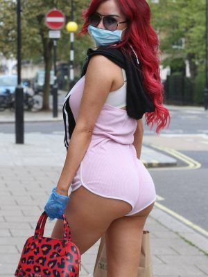 Carla Howe Ass in Racy Shorts Out in London