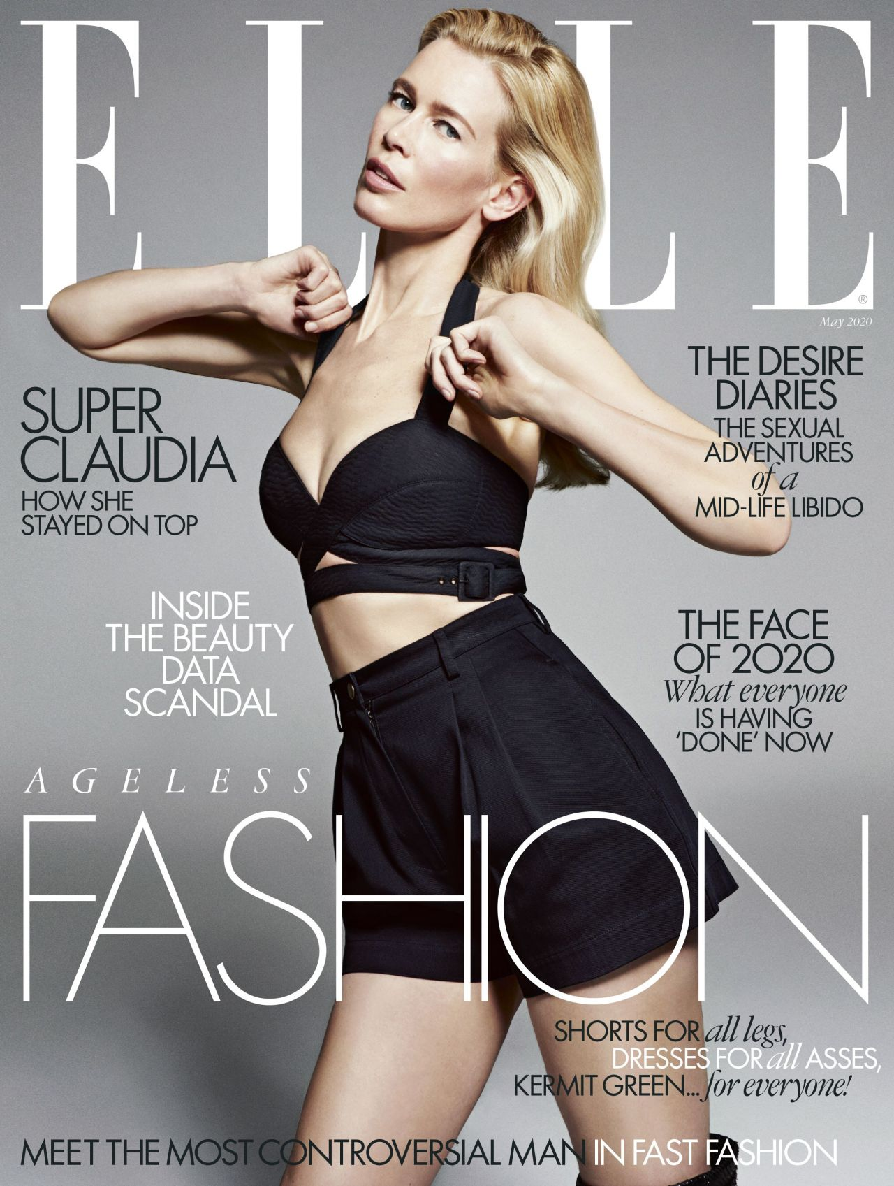 Claudia Schiffer in ELLE Magazine UK - May 2020