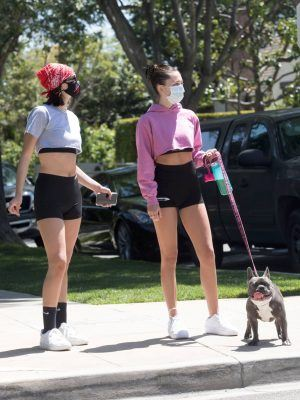 Delilah Belle and Amelia Gray Hamlin in Tight Shorts Out in Beverly Hills
