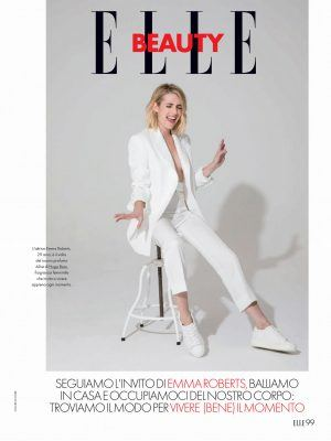 Emma Roberts in Elle Italy - April 2020