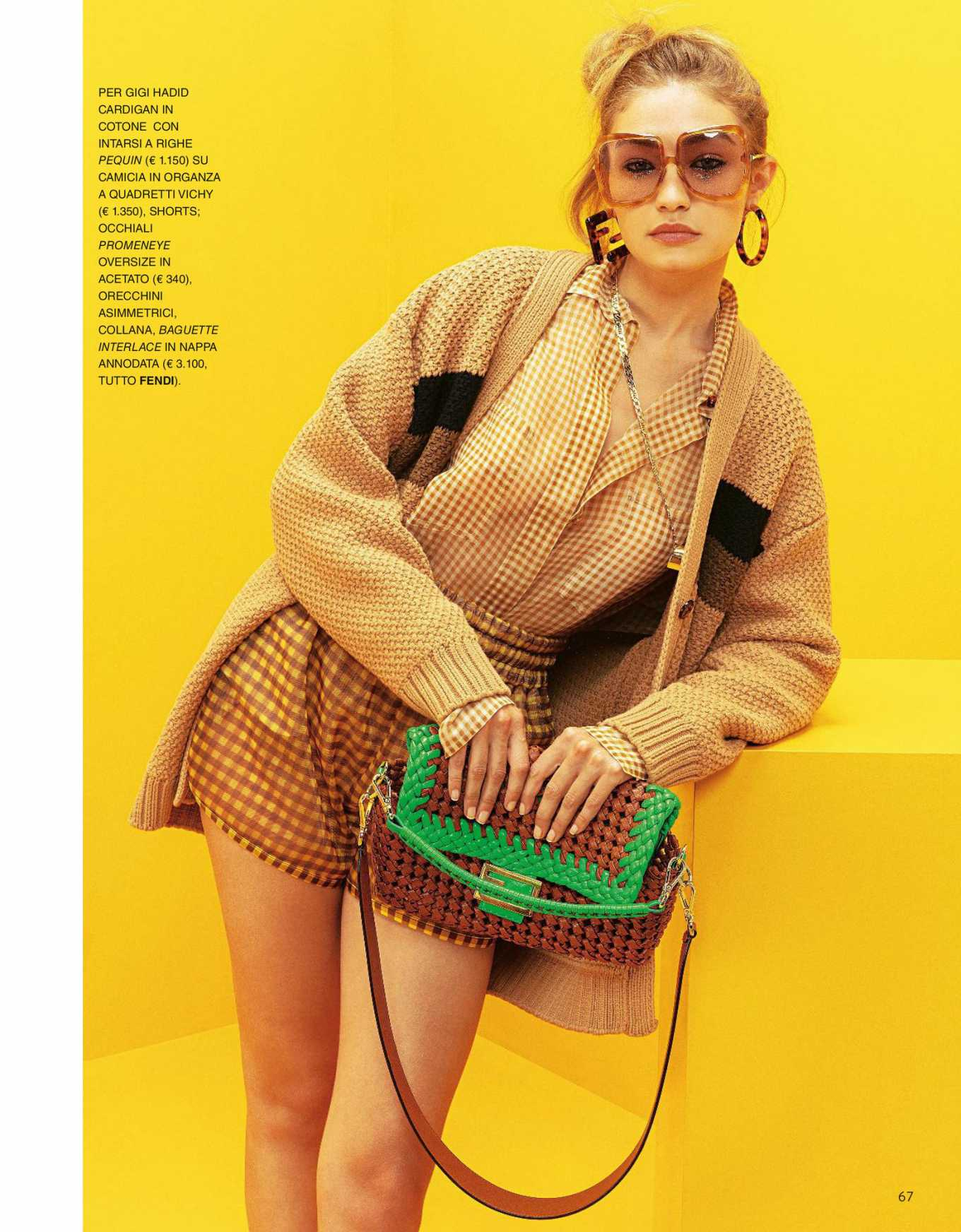 Gigi Hadid in Grazia Italy Magazine - April 2020