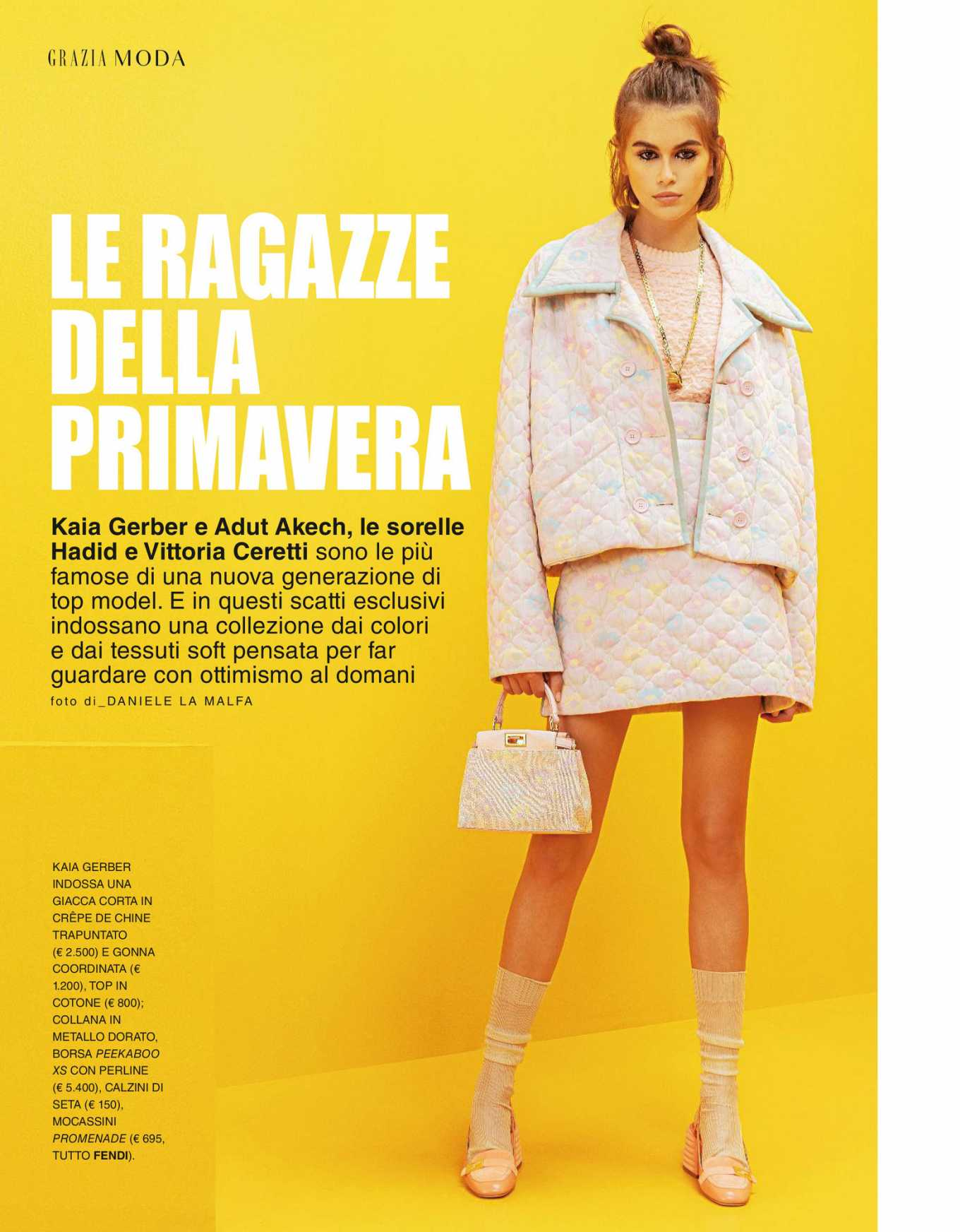 Kaia Gerber in Grazia Italy Magazine - April 2020