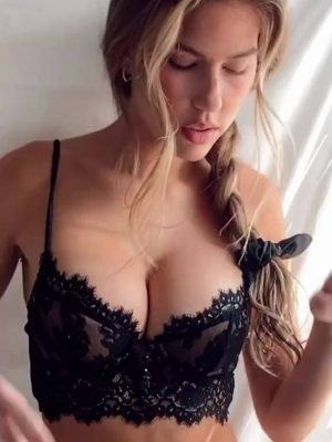 Kara Del Toro Boobs in Black Lingerie