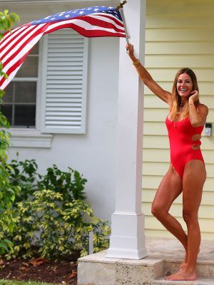 Kelly Bensimon on Easter in a One-Piece with Her Family in West Palm Beach