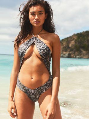 Kelly Gale in Victoria's Secret Swimsuit - April 2020
