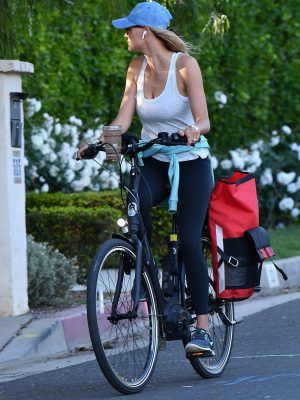 Kelly Rohrbach Riding Bike in Brentwood
