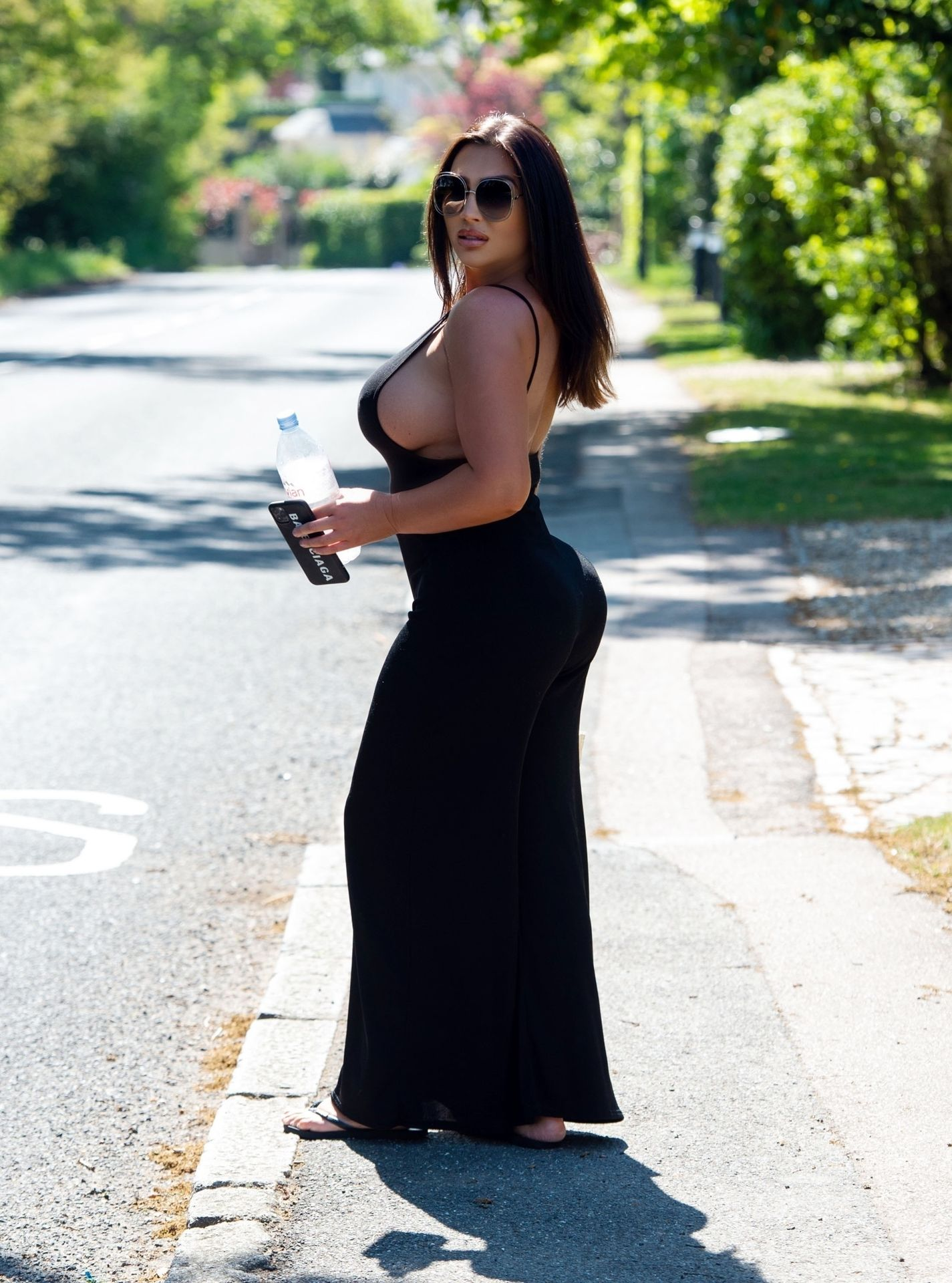 Lauren Goodger Sideboob in Essex