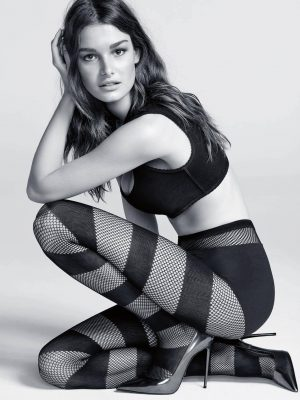 Ophelie Guillermand and Robin Holzken Sexy in Stockings for Calzedonia Campaign