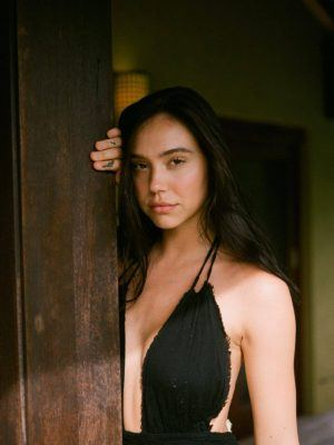 Alexis Ren in Low-Cut Black Dress for Jack Elias Photoshoot - May 2020