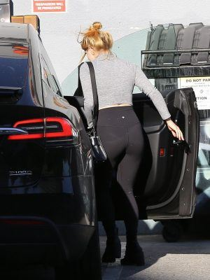 Ariel Winter Ass in Black Tights Out in LA