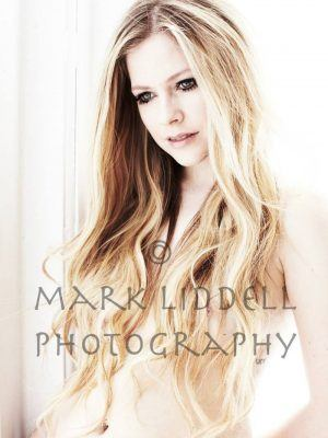 Avril Lavigne Boobs and Nipples in Photoshoot by Mark Liddell