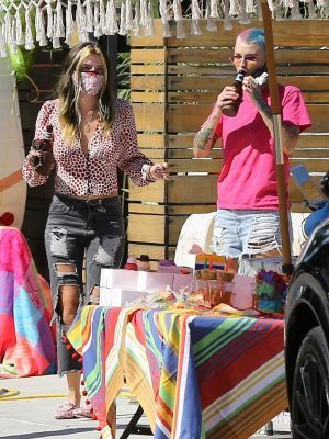 Bella Thorne and Ruby Rose at a Birthday Party in Studio City