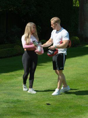 Bianca Gascoigne and Kris Boyson Working Out in South London