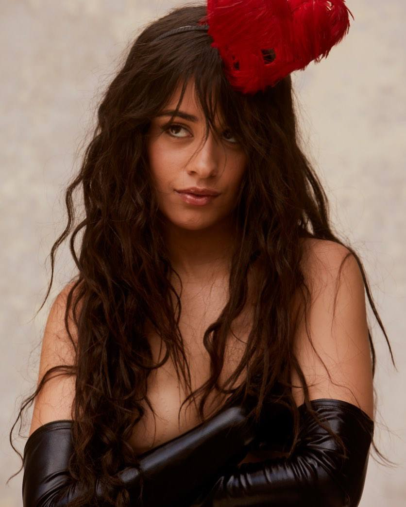 Camila Cabello Topless but Covered Photoshoot