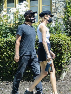 Diane Kruger and Norman Reedus Attend a House Party wearing Masks amid COVID-19 Pandemic