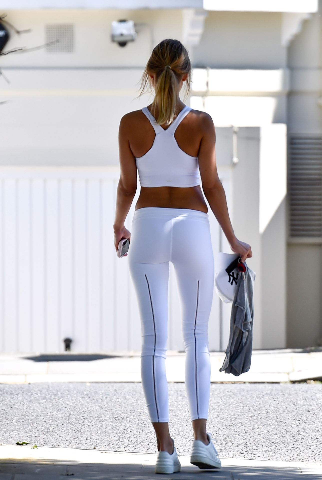Kimberley Garner Booty is Seen Working Out in London