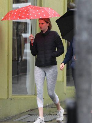 Lucia Hawley Ass, Grabbing Coffee in the Rain in Paddington in Sydney