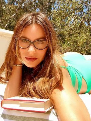 Sofia Vergara in Green Swimsuit
