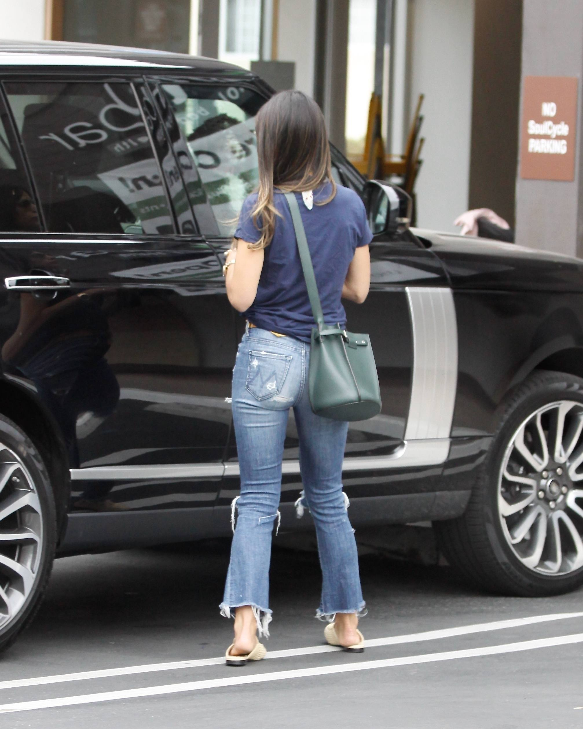 Jordana Brewster Booty in Jeans, Out in Brentwood