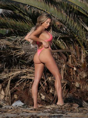 Khloe Terae Ass in Pink Bikini For 138 Water Photoshoot in Malibu