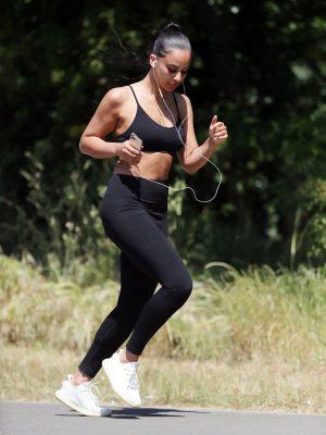Shari Halliday Booty Working Out in a London Park