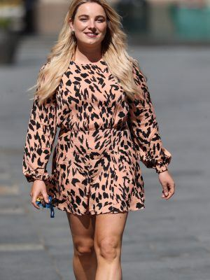 Sian Welby Leggy Outside Capital Radio in London