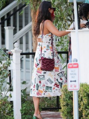 Eiza Gonzalez Leggy in a Beautiful Dress Out in West Hollywood