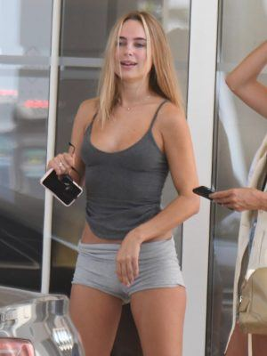 Kimberley Garner Camel-Toe in Tight Shorts Out in Cannes