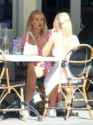 Lottie Moss Upskirt and Leggy Out in London