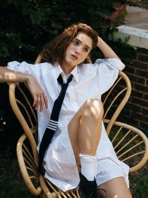 Natalia Dyer as Schoolgirl in WWD Magazine - July 2020