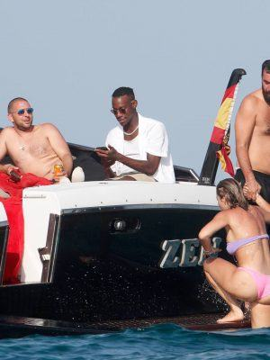 Rita Ora Topless on a Boat in Ibiza