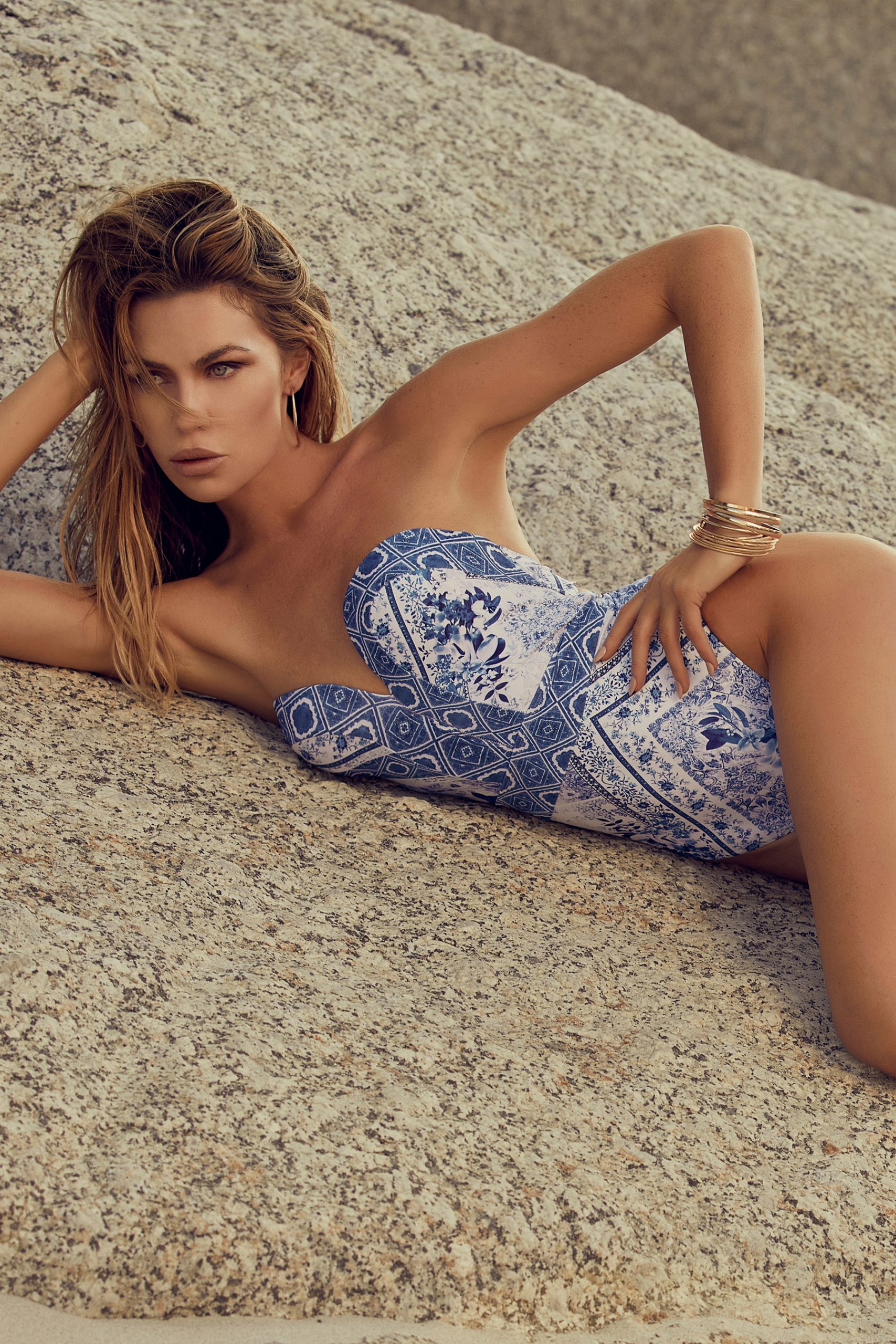 Abbey Clancy in Lipsy Swimwear - August 2020