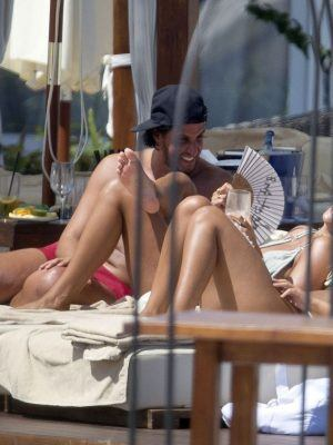 Arabella Chi Ass, PDA with a Boyfriend on Holiday in Ibiza