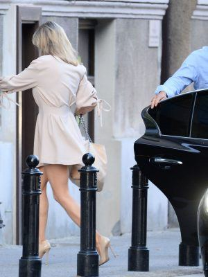 Joanna Krupa Leggy, with Husband going to Restaurant Nobu in Warsaw, Poland