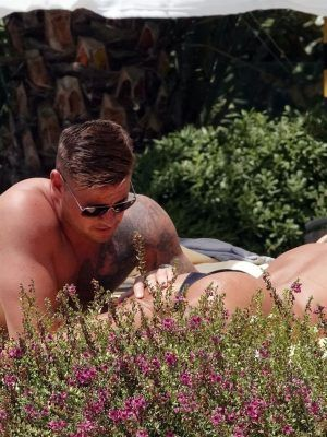 Katie Price in Bikini While Relaxing Poolside at a Hotel in Turkey