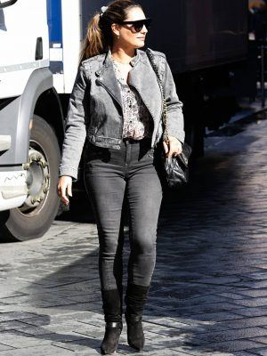 Kelly Brook Booty in Denim Jeans at Heart Radio Station in London